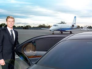 chauffeur, limousine, aircraft, airport transfer
